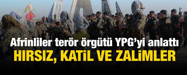 Afrinliler anlattı: PKK hırsız ve alçak bir örgüt