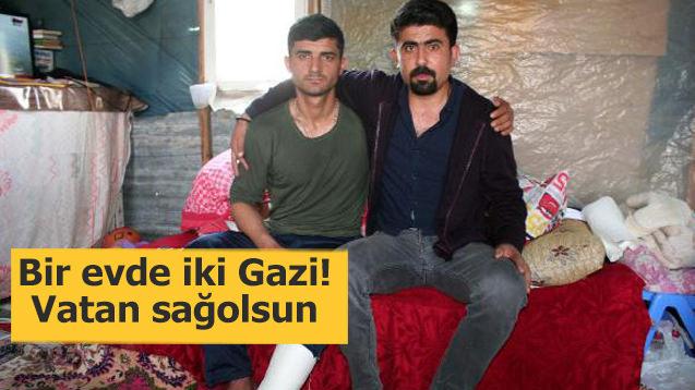 Bir evde iki Gazi! Vatan sağolsun