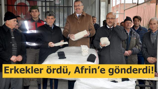 Erkekler ördü, Afrin'deki Mehmetçiğe gönderdi
