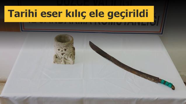 Tarihi eser kılıç ele geçirildi