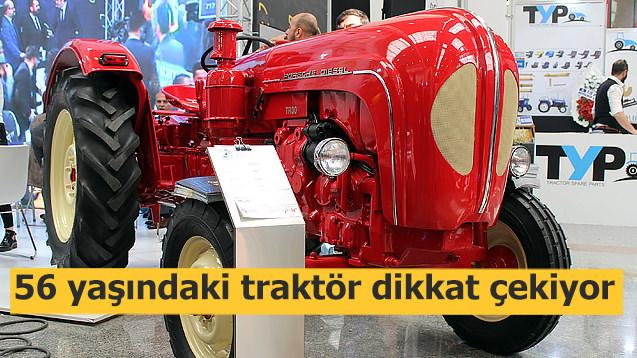 56 yaşındaki traktör dikkat çekiyor!