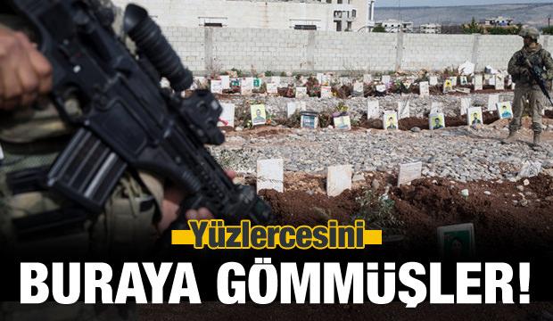 Afrin'de bulundu! Yüzlercesini buraya gömmüşler