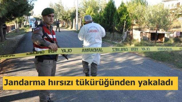 Jandarma hırsızı tükürüğünden yakaladı