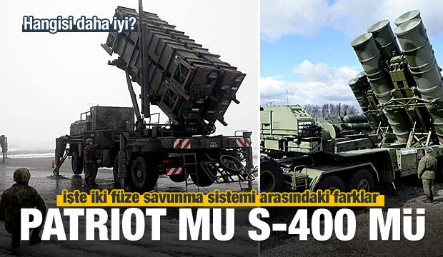 S-400 ve Patriot arasındaki farklar