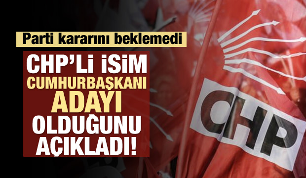 CHP'li isim Cumhurbaşkanı adayı olduğunu açıkladı