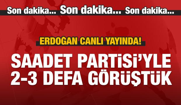 Cumhurbaşkanı Erdoğan canlı yayında konuşuyor