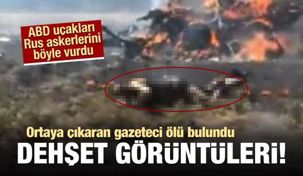 Dehşet görüntü! ABD uçakları Rusları böyle vurdu