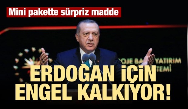 Erdoğan'a grup başkanlığı yolu açılıyor