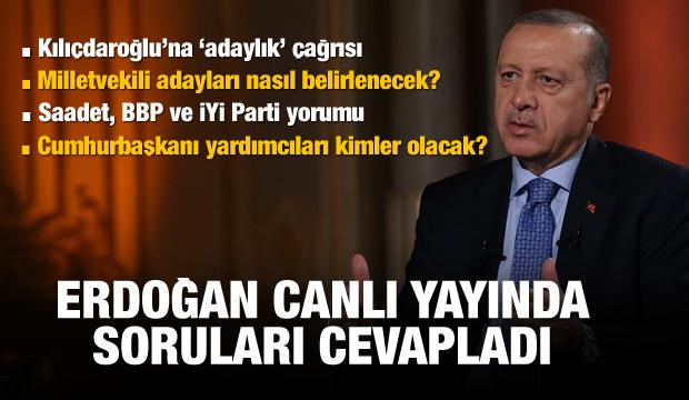 Erdoğan'dan canlı yayında erken seçim yorumu