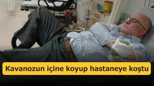 Kavanozun içine koyup hastaneye koştu