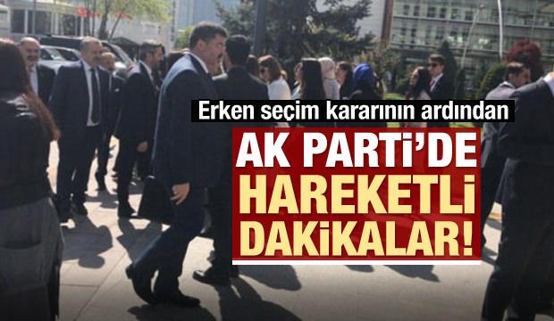 Seçim kararının ardından AK Parti'de sıcak saatler
