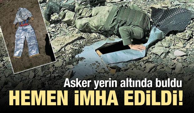 Van'da bulundu! PKK özel kıyafetler kullanmış...