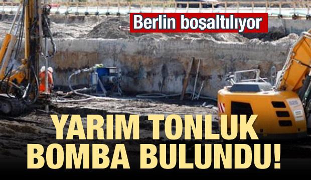 Yarım tonluk bomba bulundu! Berlin boşaltılıyor