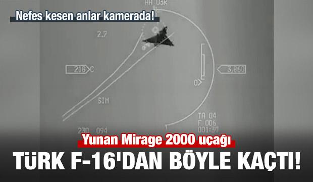 Yunan Mirage 2000 uçağı, Türk F-16'dan böyle kaçtı