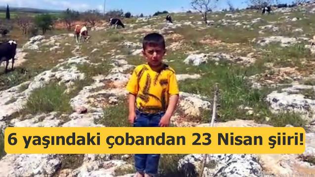 6 yaşındaki çobandan 23 Nisan şiiri!