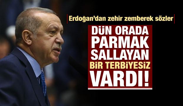 Erdoğan: Edepsizce el kol sallıyor, yaptırmam!