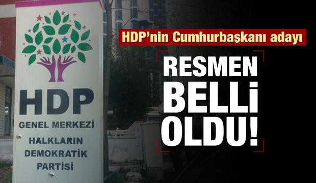 HDP'nin cumhurbaşkanı adayı belli oldu!