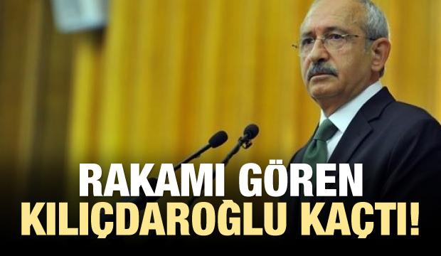 Rakamı gören Kılıçdaroğlu kaçtı!