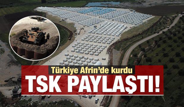 TSK paylaştı! Türkiye Afrin'de kurdu…