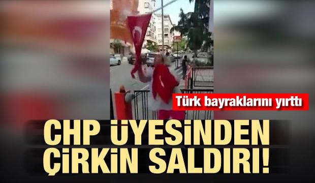 CHP üyesi kadın AK Parti seçim bürosuna saldırdı
