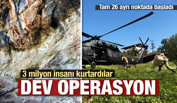 Dev operasyon! 3 milyon insanı kurtardılar