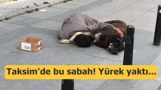 Taksim'de bu sabah! Yürek yaktı...