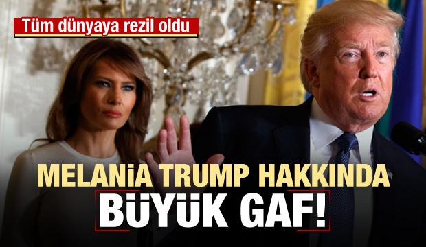 Trump'tan eşi hakkında büyük gaf! Rezil oldu
