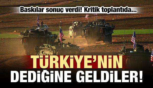 ABD, Türkiye'nin dediğine geldi!