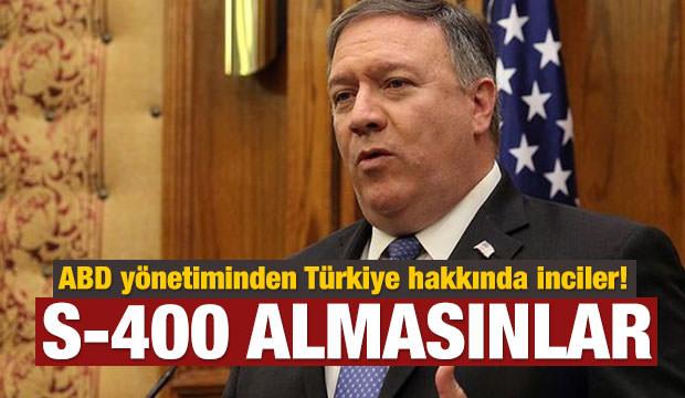 ABD yönetiminden Türkiye hakkında inciler!