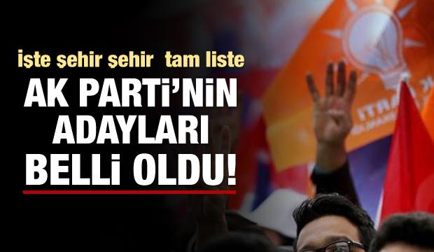 AK Parti'de aday listesi belli oldu!
