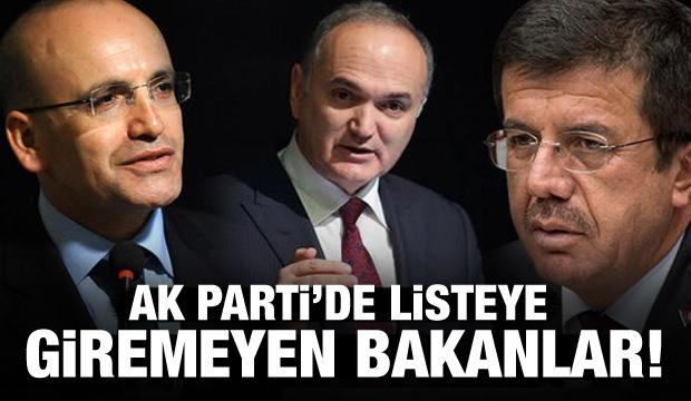 AK Parti'de hangi bakan listeye giremedi?