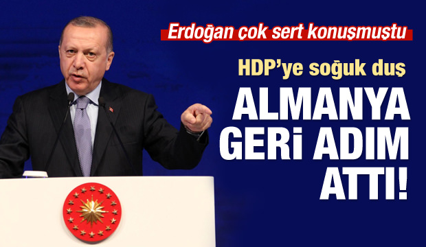 Almanya geri adım attı! HDP'ye konuşma yasağı