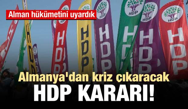 Almanya'dan kriz çıkaracak HDP kararı!