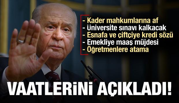 Bahçeli, MHP'nin seçim beyannamesini açıkladı