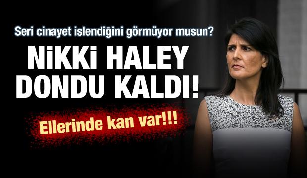BM Daimi Temsilcisi Haley'e Filistin protestosu!