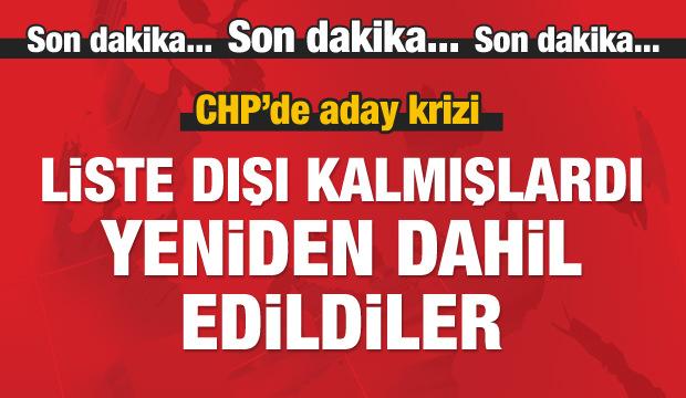 CHP'de aday krizi! O isimler yeniden listede