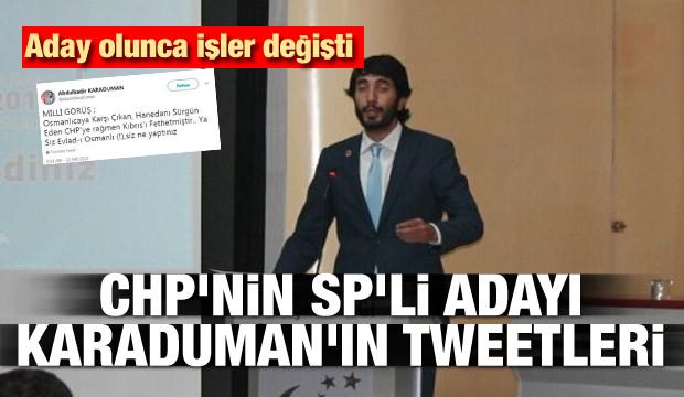 CHP'nin SP'li adayı Karaduman'ın tweetleri