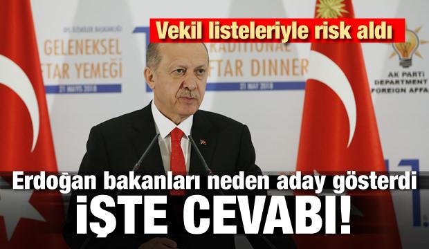Erdoğan bakanları neden aday gösterdi! İşte cevabı