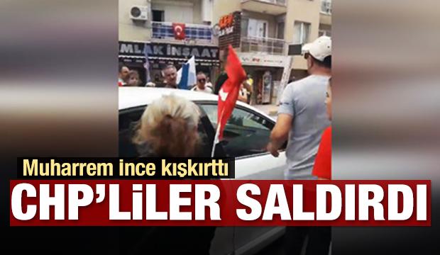 İnce kışkırttı, CHP'liler TRT aracına saldırdı