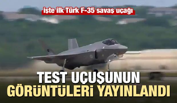Türk F-35 savaş uçağı işte böyle havalandı