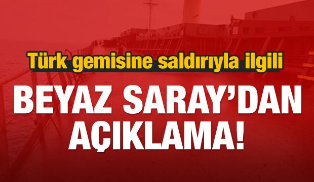 Türk gemisine saldırıyla ilgili ABD'den açıklama
