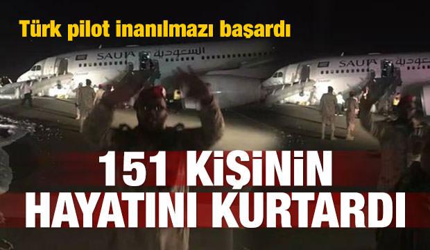 Türk uçağı Suudi Arabistan'da tehlike atlattı