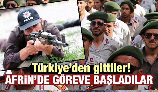 Türkiye'den gittiler! Afrin'de göreve başladılar