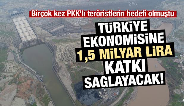 Ülke ekonomisine 1,5 milyar lira katkı sağlayacak