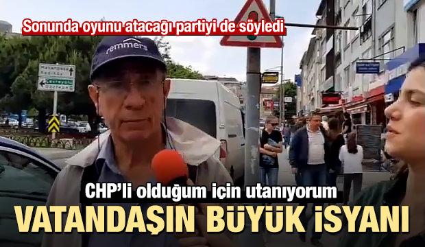 Vatandaş isyan etti CHP'li olduğum için utanıyorum