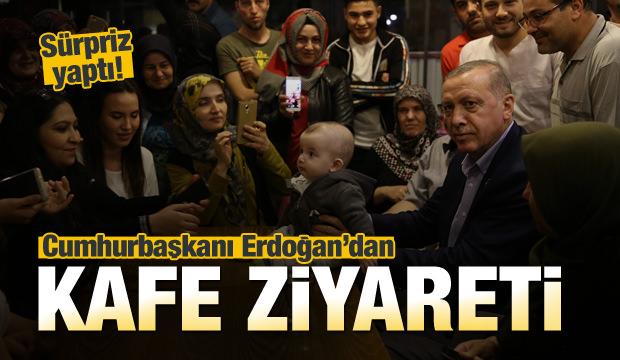 Erdoğan'dan kafe ziyareti