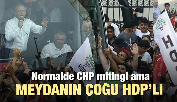 İnce'nin mitinginde CHP'liden çok HDP'li vardı