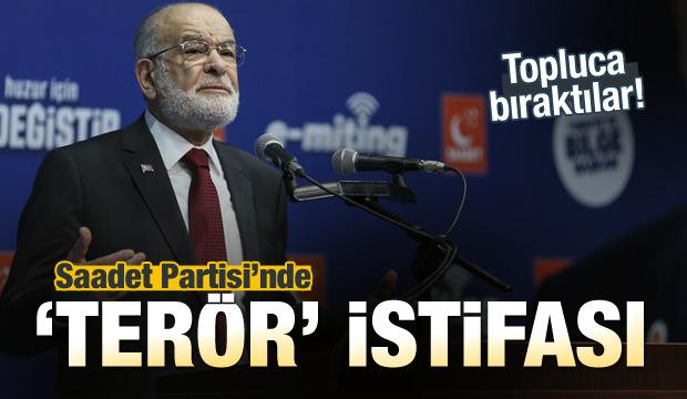 Saadet Partisi'nde 'terör' istifası