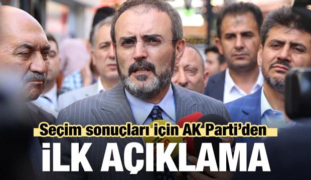 AK Parti'den sonuçlara ilişkin ilk açıklama
