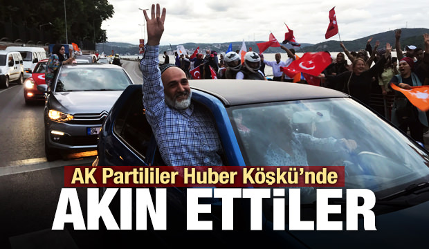 AK Partililer Huber Köşkü'ne akın etti